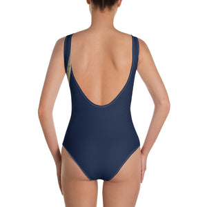 Navy One-Piece Swimsuit with Longhorn - Whimsy Fit Workout Wear