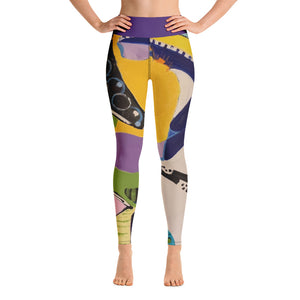 "Squire Girl ""Toot your Horn"" Yoga Leggings - Whimsy Fit Workout Wear"