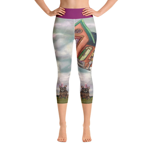"""Party is Over"" Yoga Capri Leggings - Whimsy Fit Workout Wear"