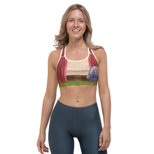 """Waiting for Mom"" Sports bra - Whimsy Fit Workout Wear"