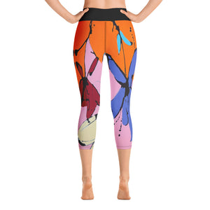 "Squire Girl ""Funk"" Yoga Capri Leggings - Whimsy Fit Workout Wear"
