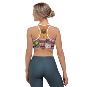 """Salon Dogs"" Sports bra - Whimsy Fit Workout Wear"