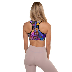 """Breeze Bright"" Padded Sports Bra - Whimsy Fit Workout Wear"