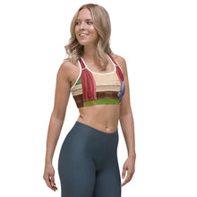 "Load image into Gallery viewer, ""Waiting for Mom"" Sports bra - Whimsy Fit Workout Wear"