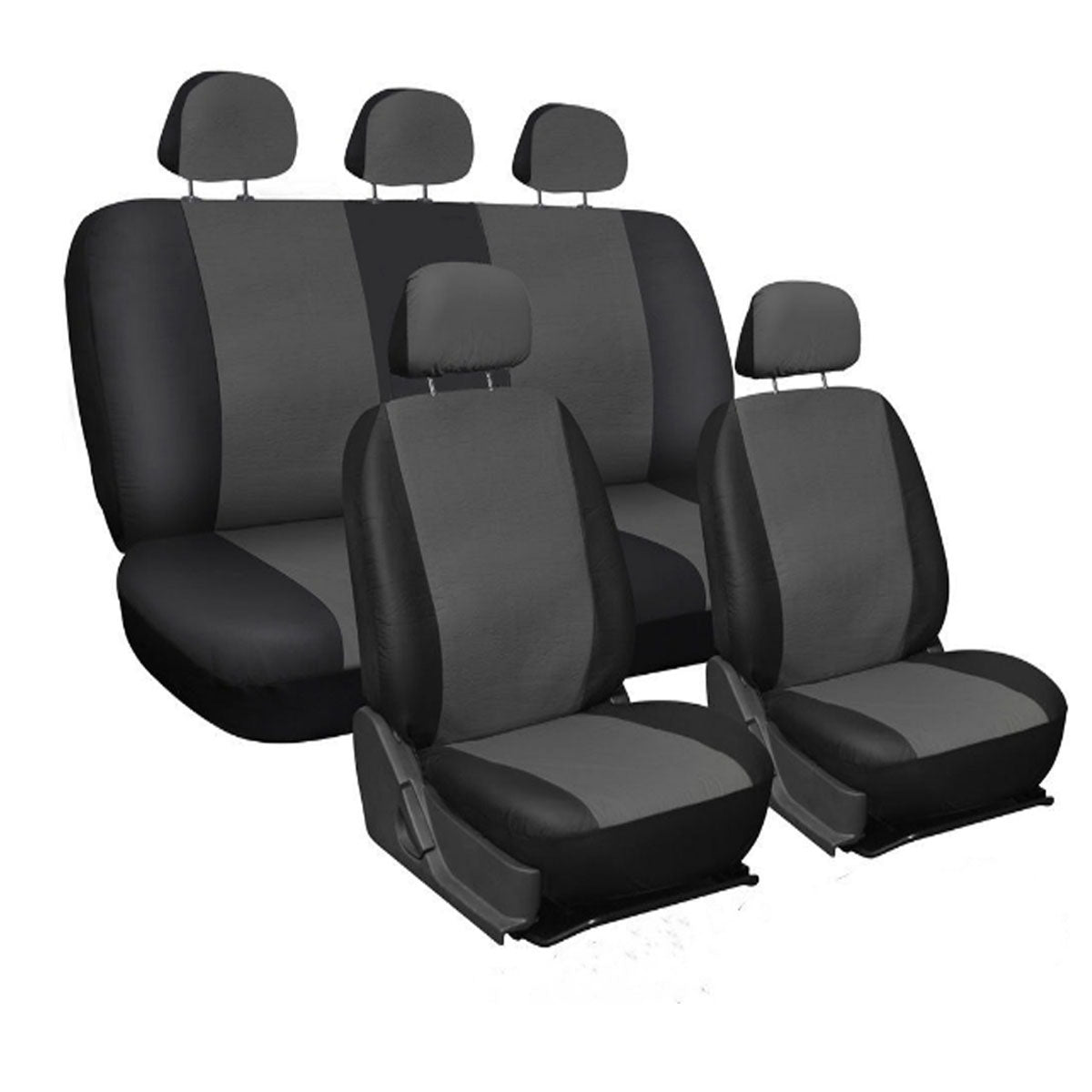 9Pc PU Leather Car Seat Cover Front Full Set Protector Universal