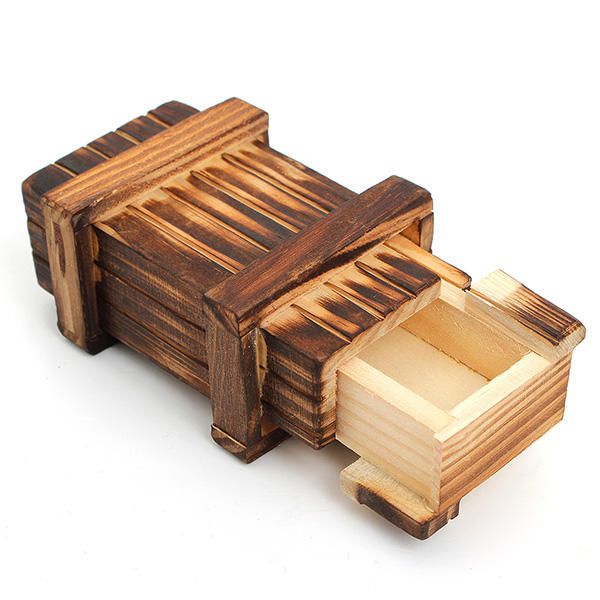 3D Wooden Toy Puzzle Brain Teaser Magic Box