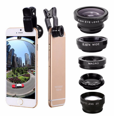 ClearShotX™ Zoom Macro Wide Angle Fisheye iPhone Camera Lens Kit For Tablet Cell Phone SmartPhones