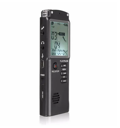 VoicX™ Voice Activated Recorder 8GB Portable Rechargeable LCD Digital Audio Voice Recorder Dictaphone for voice memo With MP3 Play