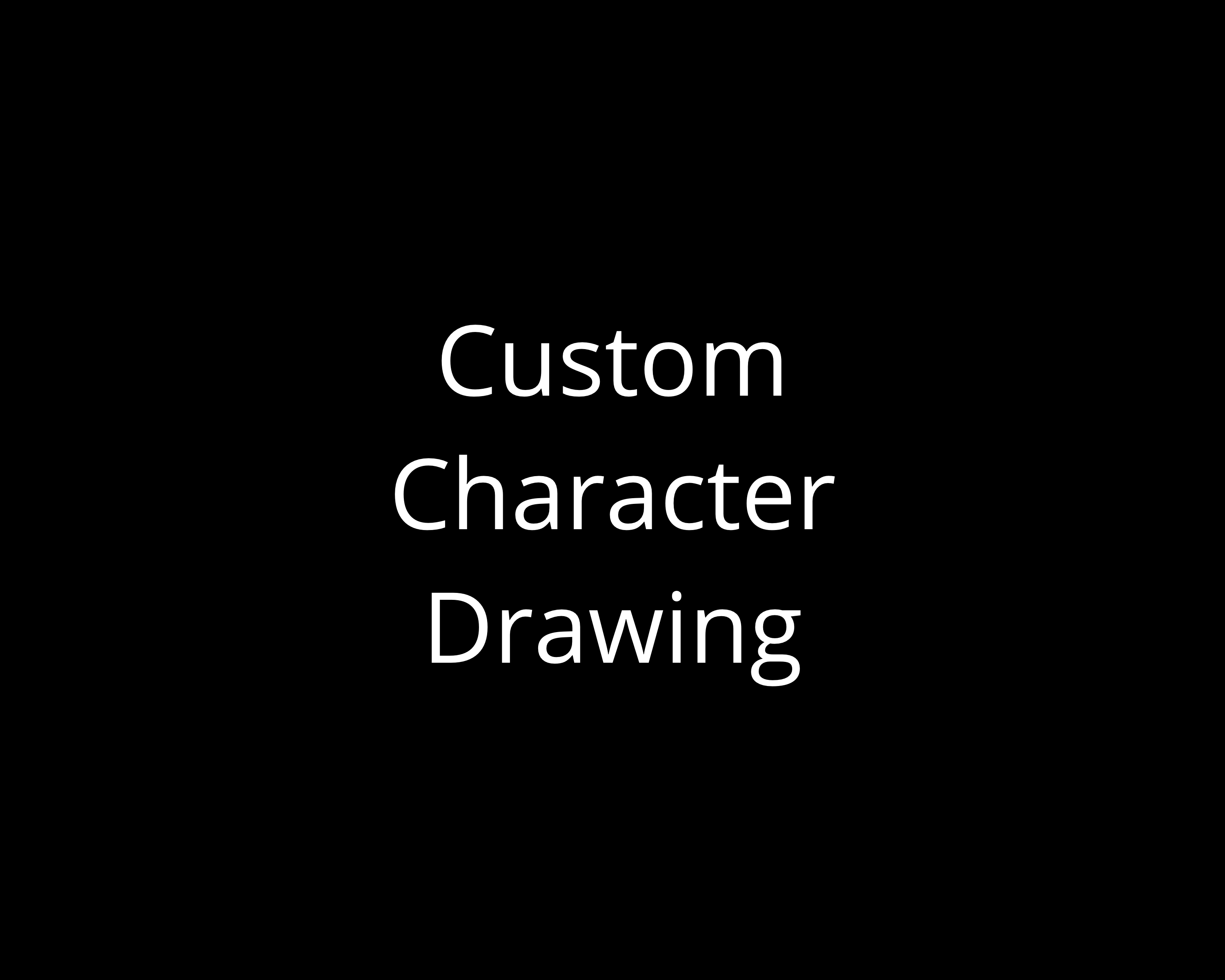 Custom Character Drawing with Optional Caption
