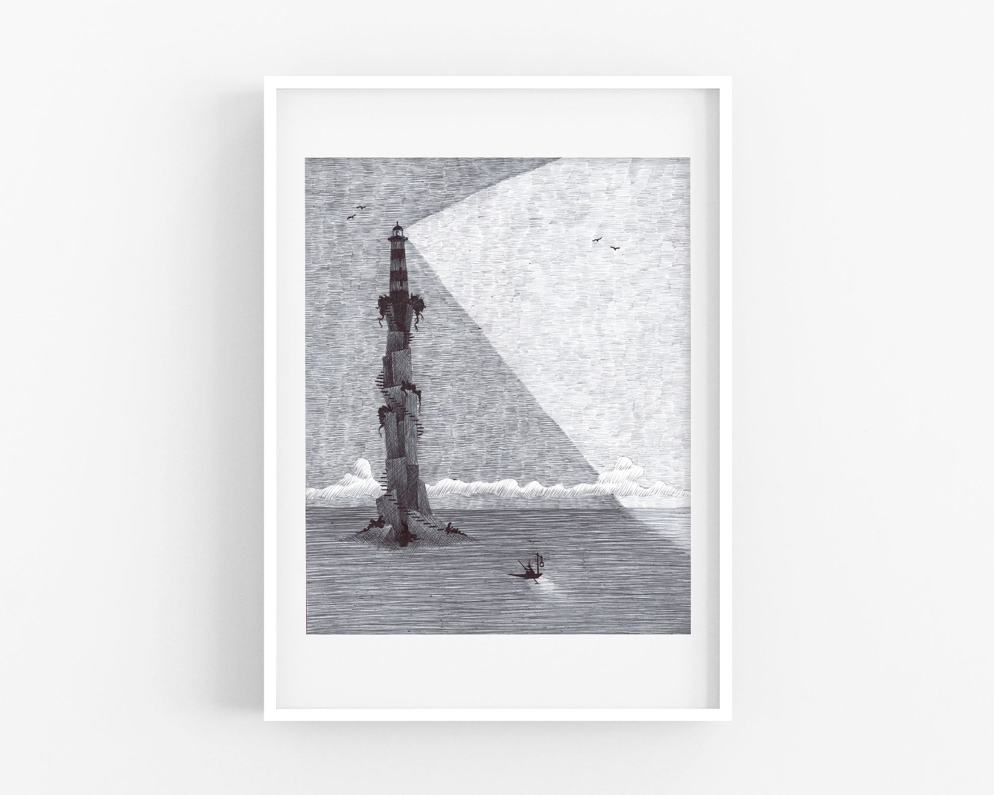 Isolation Monochromatic Print