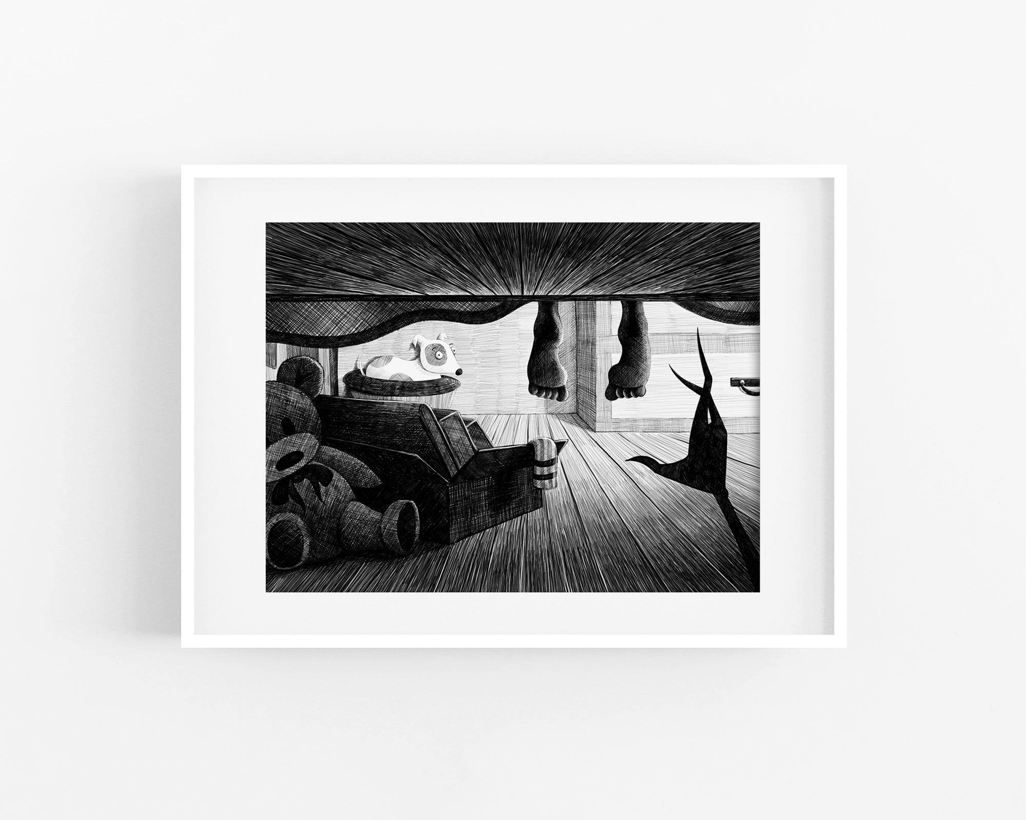 Monster Under the Bed Print