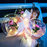 LED Luminous Balloon Rose Bouquet (Matte Paper Packaging )