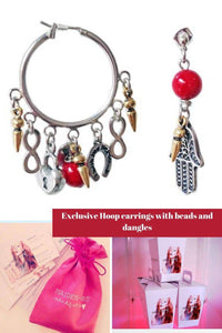 Exclusive Hoop earrings with beads and dangles