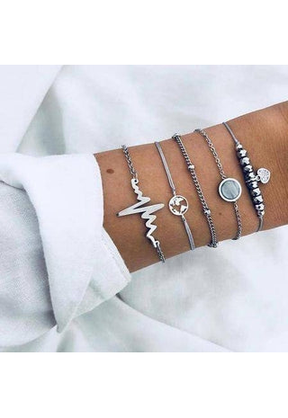 Bohemian Bracelet Set Bangle Boho Jewelry-Te Sanandum