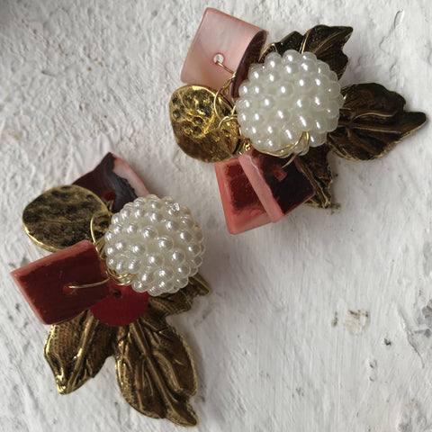 Image of Golden Leaf Earrings by designer Rosa Sempere-Te Sanandum