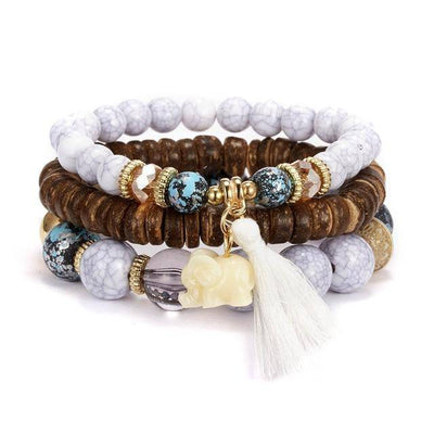 Natural Stone Bead Bracelets | Boho-Chic | Hippie Style