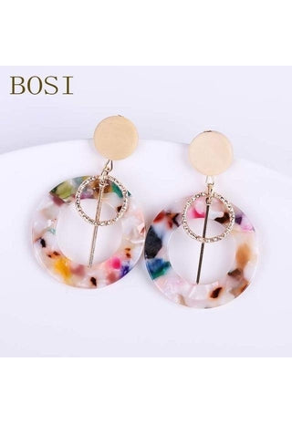 Image of  Ibiza Boho Style 💫 Acetate Dangle Drop Boho Earrings