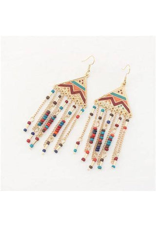 Egyptian Triangle Pyramid Style Etnic Earrings | Boho-Chic | Hippie Style