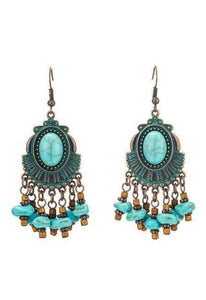 Indian Vintage Ethnic Boho Tassel Long Earrings-Te Sanandum