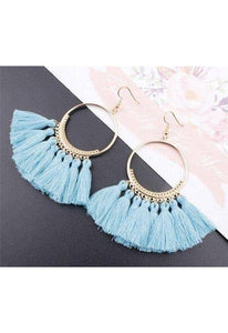 Vintage Boho Tassel Earrings-Te Sanandum