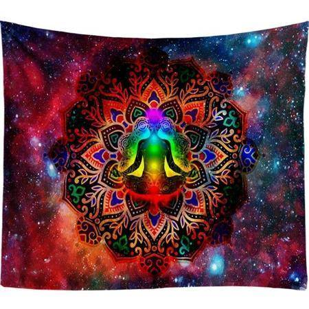Starry Night Galaxy Hiasan Dinding Indian Mandala-Te Sanandum