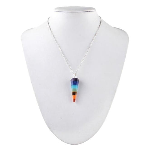 Ìomhaigh de 7 Chakra Reiki no Yoga Angel Necklace-Te Sanandum