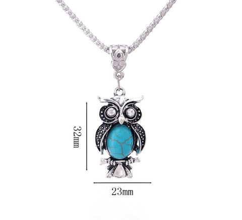 Image of  Ibiza Boho Style 💫 Vintage Natural Stone Owl Necklace