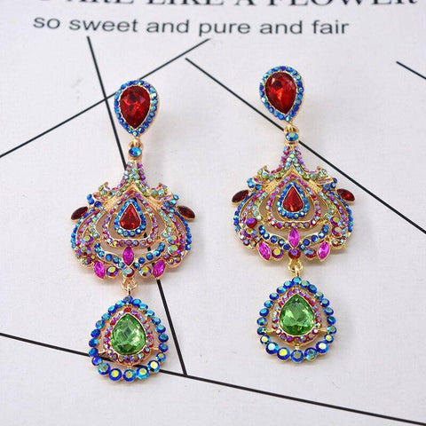 Ibiza Boho Style 💫 Large earrings with baroque crystals