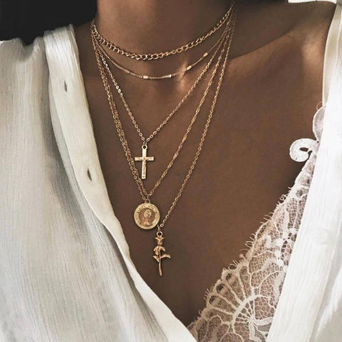 Ibiza Boho Style 💫 Bohemian style necklace multilayer necklace