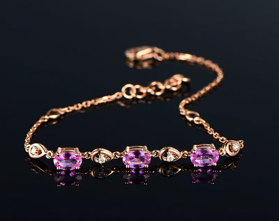 Gold chain with purple sapphire stones | Boho-Chic | Hippie Style