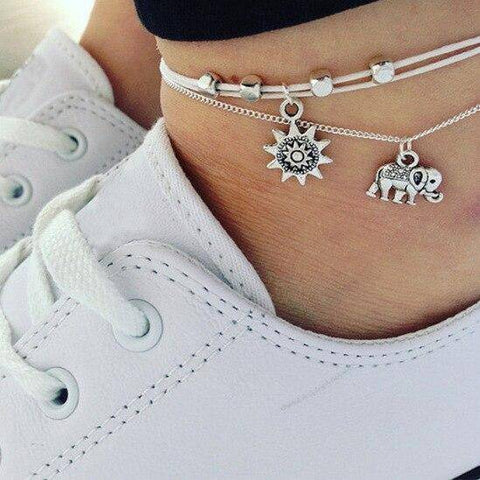 Image of  Ibiza Boho Style 💫 Anklet for women of shells