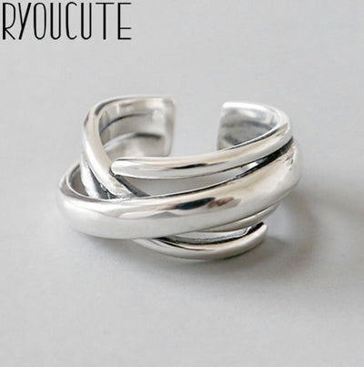 Silver Color Geometric Irregular Rings | Boho-Chic | Hippie Style