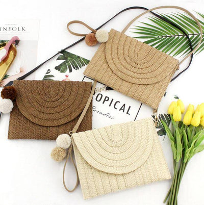 Square Rattan Straw Bag | Boho-Chic | Hippie Style