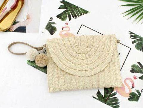 Image of  Ibiza Boho Style 💫 Square Rattan Straw Bag