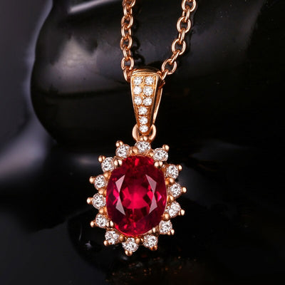 Gold pendant with natural ruby stone | Boho-Chic | Hippie Style
