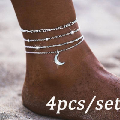 Moon Pendant Anklet | Boho-Chic | Hippie Style
