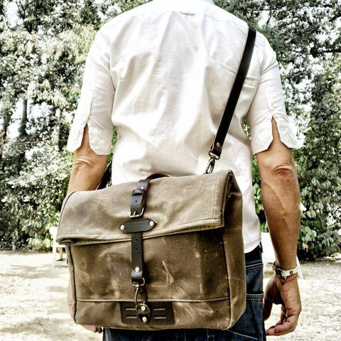 Image of  Ibiza Boho Style 💫 Men's retro canvas bag