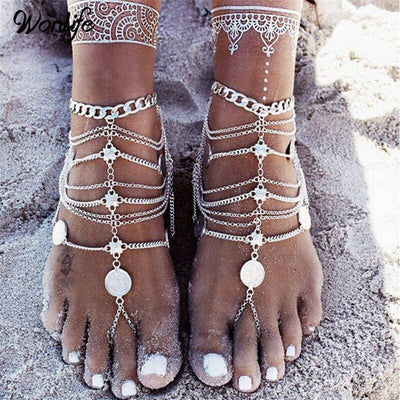Bohemian anklet | Boho-Chic | Hippie Style