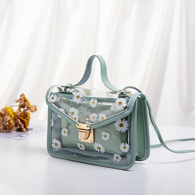 Transparent bag with daisies | Boho-Chic | Hippie Style