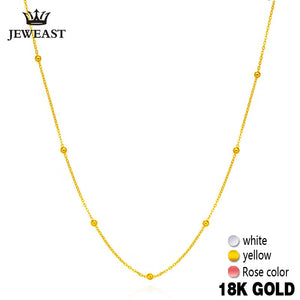 Gold chain with beads