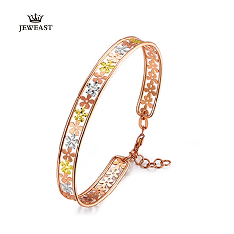 Image of Pure gold bracelet with a row of flowers