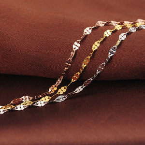 Multicolor rose gold chain