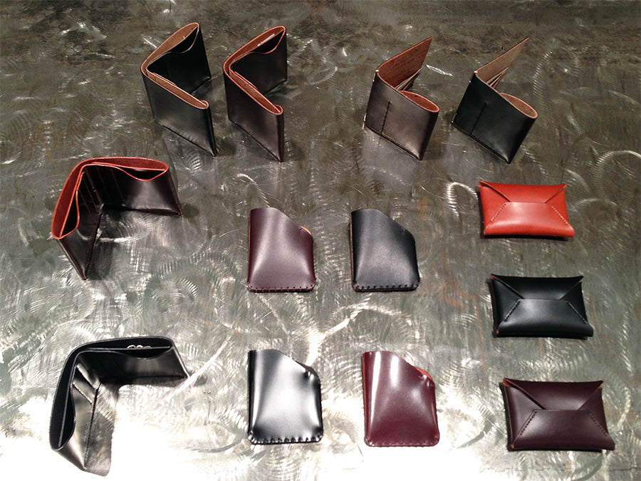 brujula new york at if soho new york boutique. shell cordovan wallets