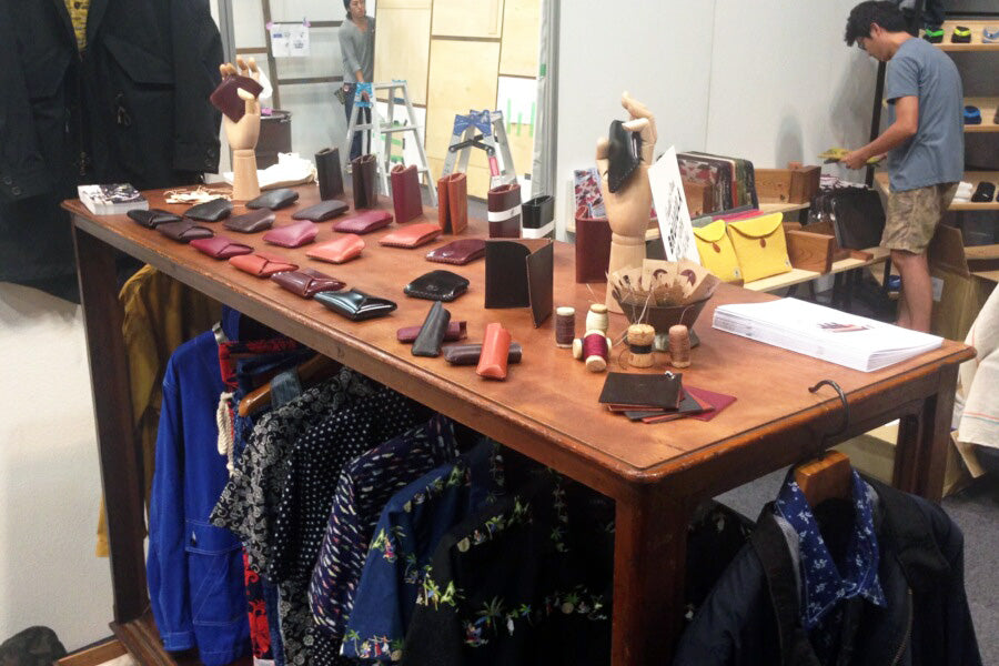 brujula new york at jumble tokyo exhibition 2014 handmade leather goods shell cordovan wallets