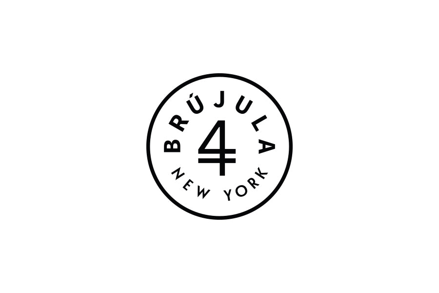 brujula new york logo handmade leather accessories made in new york usa