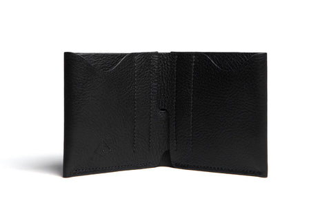 One Piece Leather Bifold Wallet (Black)