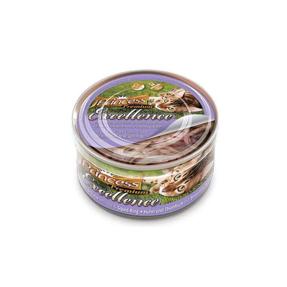 ΚΟΝΣΕΡΒΑΚΙΑ PRINCESS PREMIUM CHICKEN-TUNA-SQUID