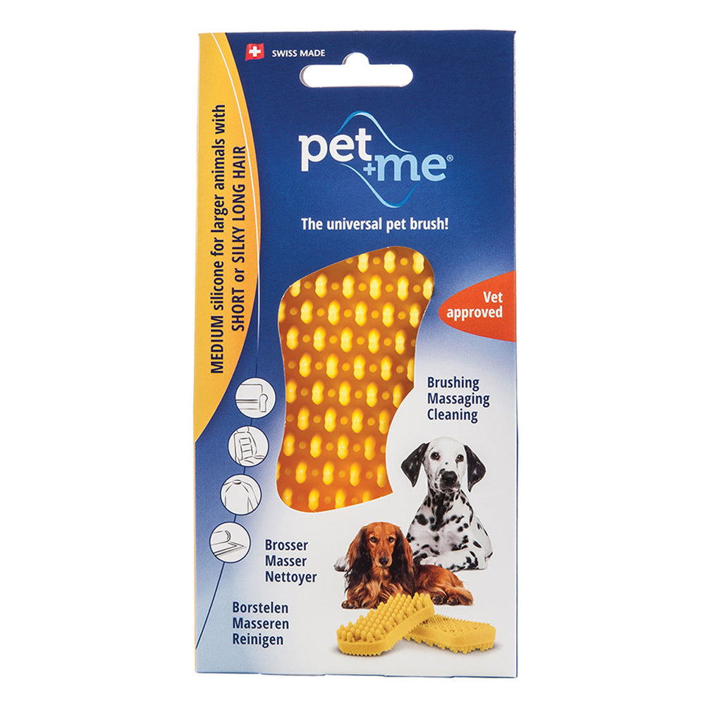 PET ME ΒΟΥΡΤΣΑ FIRM SILICONE YELLOW