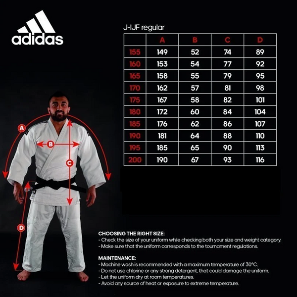 Regular fit size guide