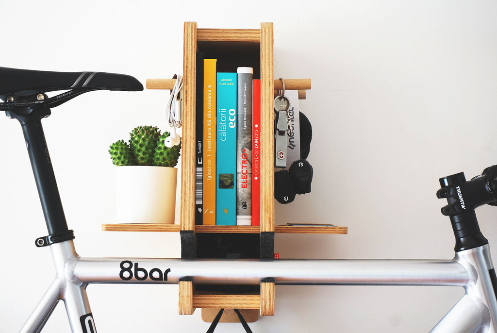 berlin wooden bicycle rack  bike shelf bike stand